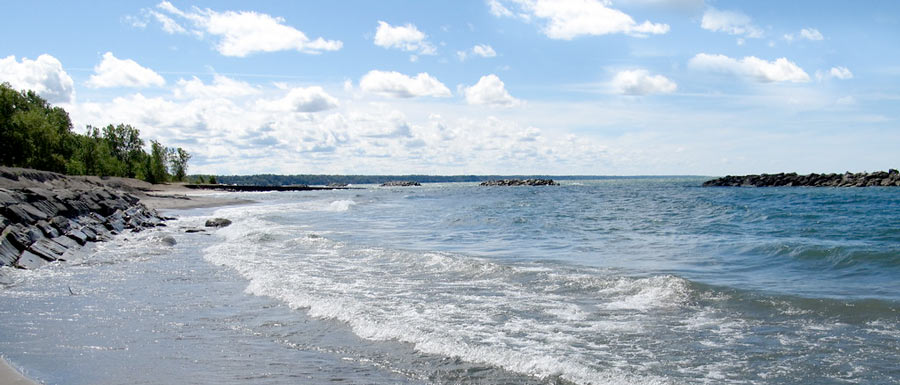 lake erie as seen from the shores of Presque Isle